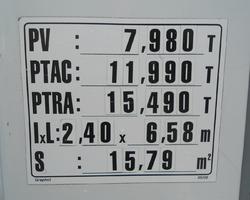 PORTEUR 4X2 PLATEAU GRUE MERCEDES